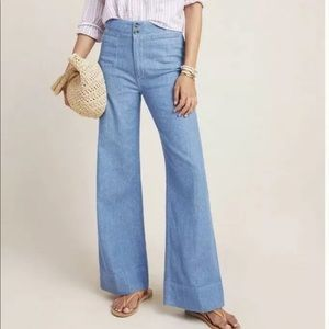 Anthropologie 28 Pilcro High Rise Wide Leg Jeans